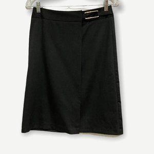 Sisley Black Front Wrap Skirt